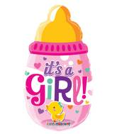 "14"" Airfill Only Baby Bottle Girl Mini Shape Balloon"