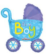 "14"" Airfill Only Baby Stroller Boy Mini Shape Balloon"