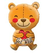 "28"" Big Hug Get Well Bear Shape Balloon"