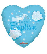 "18"" Boy Baptism Dove Balloon"