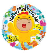"18"" Happy Mother&#39s Day Chicken Balloon"