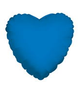 "4"" Heart Blue Royal Brand Convergram Balloon"