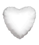 "18"" Heart White Brand Convergram Balloon"