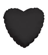 "4"" Heart Black Brand Convergram Balloon"