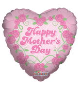 "18"" Mother's Day Pink Flowers Balloon"