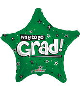 "18"" Way To Go Grad Stars Green"