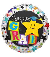 "9"" Congrats Grad Yellow Star"