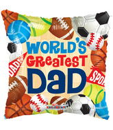 "9"" World's Greatest Dad Sports"