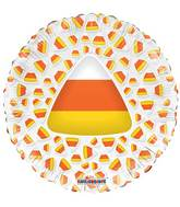 "9"" Airfill Only Candy Corn Clear View Balloon"