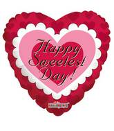 "9"" Airfill Only Sweetest Day Pink Heart Balloon"