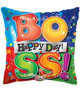 "9"" Airfill Only Happy Boss Day Multicolor Balloon"