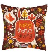 "17"" Happy Thanksgiving Leaves Balloon"