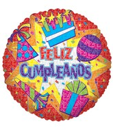 "18"" Feliz Cumpleanos Party Burst"