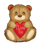 "36"" I Love You Balloon Bear Shape"
