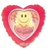 "18"" Te Quiero Smiley Face Clear View"