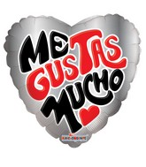 "9"" Me Gustas Mucho Balloon"