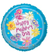 "4"" Airfill Mother'S Day Blue Swirls Balloon"