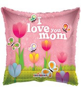 "36"" I Love You Mom Tulips Balloon"
