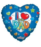 "9"" Airfill I Love You Dad Balloon"