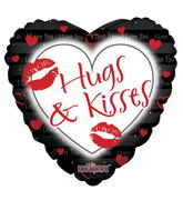 "9"" Hugs & Kisses Black"