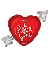 "36"" I Love You Balloon Heart With Arrow"