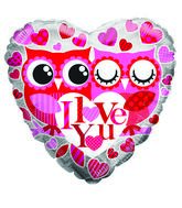 "18"" I Love You Owls"