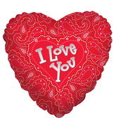 "18"" I Love You Patterned Print"
