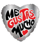 "18"" Me Gustas Mucho Balloon"