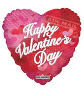 "18"" Happy Valentine's Day Balloon Air Mail"