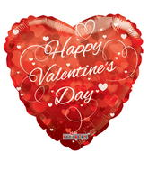 "36"" Happy Valentine&#39s Day Balloon Hearts Clear View"