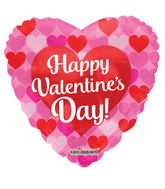 "18"" Happy Valentine's Day Many Hearts"