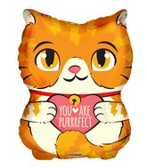 "18"" Purrfect Cat Shape Foil Balloon"