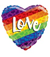 "18"" Rainbow Love Non Foil Balloon"