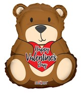 "36"" Valentine&#39s Bear Shape Foil Balloon"