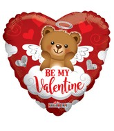 "18"" Happy Valentine&#39s Day Bear With Cloud Foil Balloon"