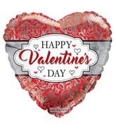"18"" Happy Valentine's Day Frame Foil Balloon"