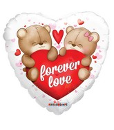 "18"" Forever Love Bears Clear View"