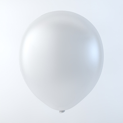 "5"" Latex Balloons Creative Brand (144 Count) Pearl White"