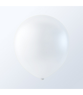 "9"" Creative Brand White Pastel Latex Balloons (144 Per Bag)"