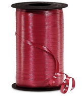 "3/16"" Poly Curling Ribbed Ribbon Burgundy"