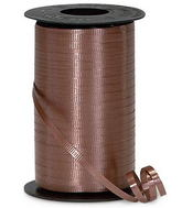 "3/16"" Poly Curling Ribbed Ribbon Chocolate Brown"