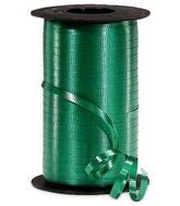 "3/16"" Poly Curling Ribbed Ribbon Forest Green"