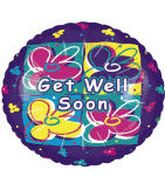 "18"" Get Well Soon Flowers Balloon"