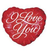 "18"" I Love You Heart Holographic Balloon"