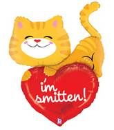 "39"" Smitten Kitten Shape Mylar Balloon (VERY DAMAGED PRINT)"