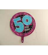 "18"" Big Five Ohh Birthday Balloon"