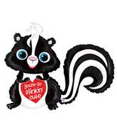 "43"" Stinkin&#39 Cute Skunk Shape Mylar Balloon"