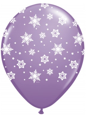 "11"" Qualatex Snowflakes Spring Lilac (50 Count)"