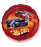 "18"" Hot Cars Mylar Balloon"