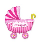 "35"" Baby Buggy Girl Balloon"